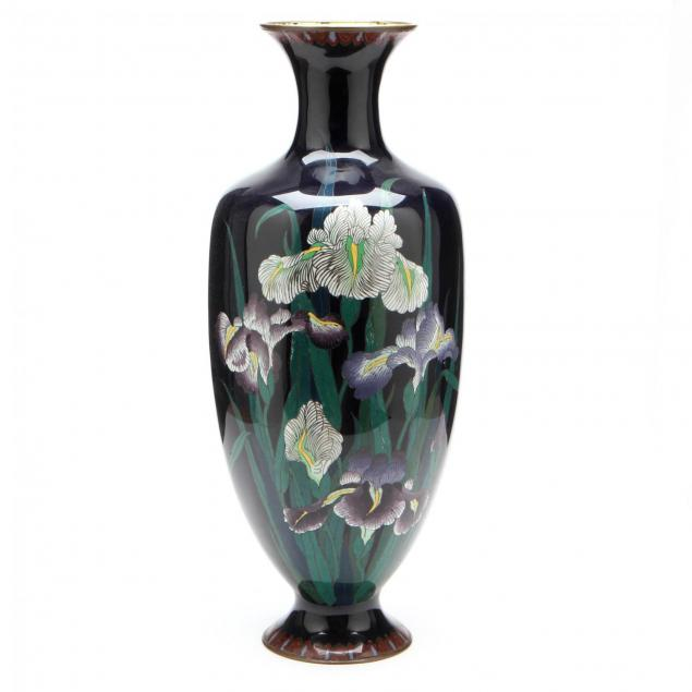 a-tall-japanese-cloisonne-vase-with-irises