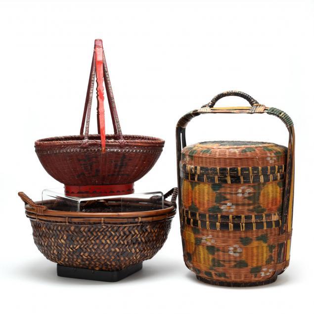 three-asian-baskets