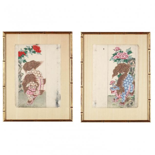 a-pair-of-chinese-foo-lion-paintings
