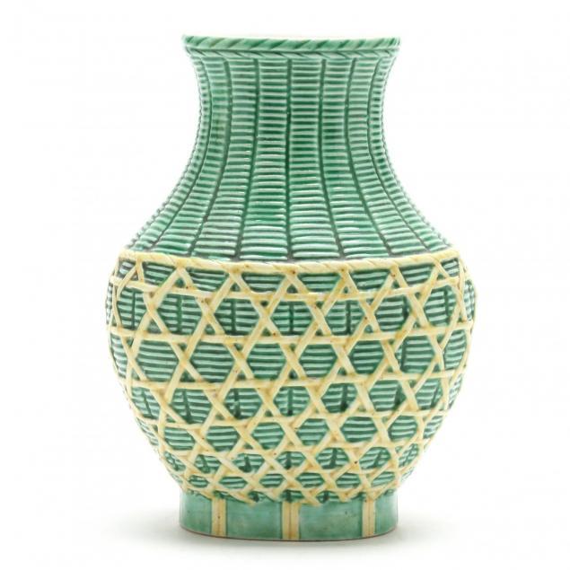 a-chinese-green-basketweave-porcelain-vase