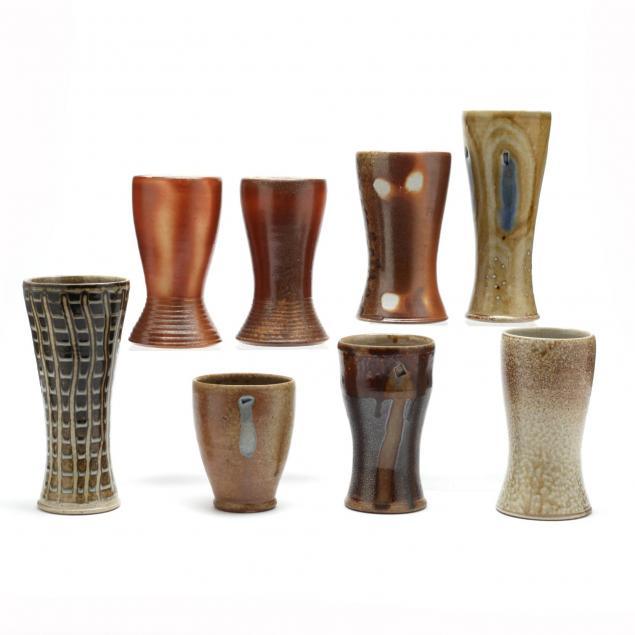 eight-drinking-vessels-mark-hewitt-pottery
