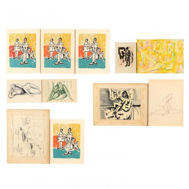 betty-bell-nc-group-of-eleven-figure-studies