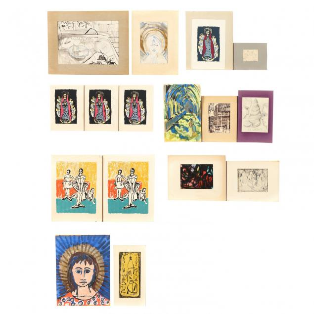 betty-bell-nc-group-of-16-assorted-prints-and-works-on-paper
