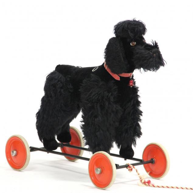 vintage-steiff-poodle-ride-on-pull-toy