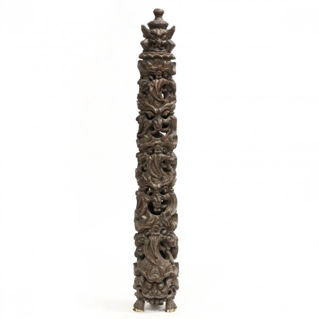 a-southeast-asian-carved-wooden-totem