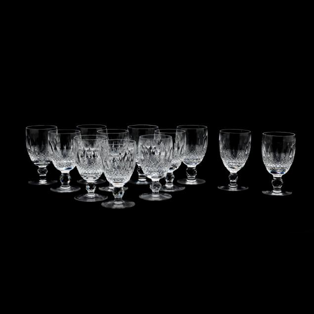 waterford-set-of-twelve-colleen-short-claret-wine-stems