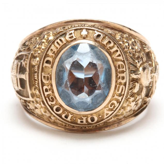 gent-s-vintage-10kt-gold-notre-dame-class-ring