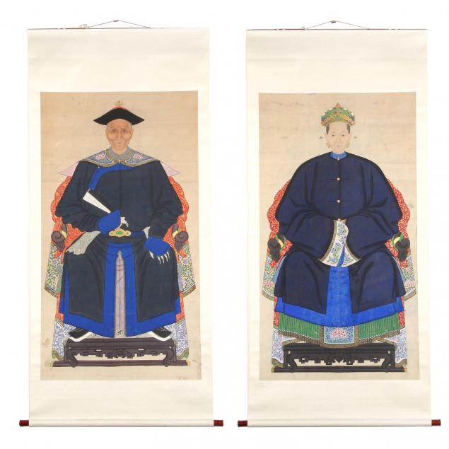 a-pair-of-grand-chinese-ancestor-portraits