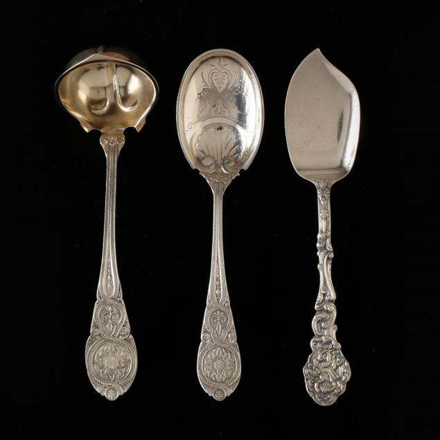 three-antique-american-sterling-silver-servers