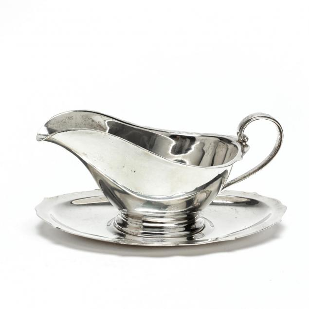 a-sterling-silver-sauce-boat-and-underplate