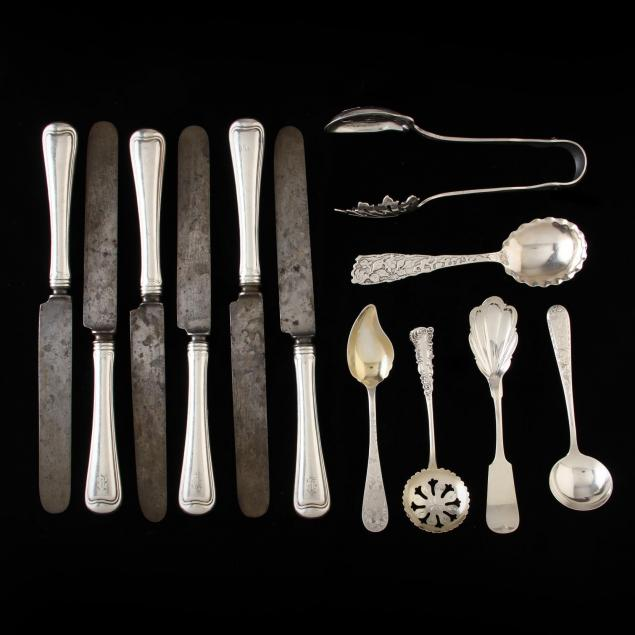 a-group-of-american-sterling-silver-flatware