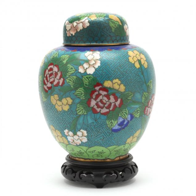 a-covered-chinese-cloisonne-jar-with-flowers