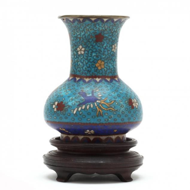 an-antique-chinese-cloisonne-vase-with-phoenix