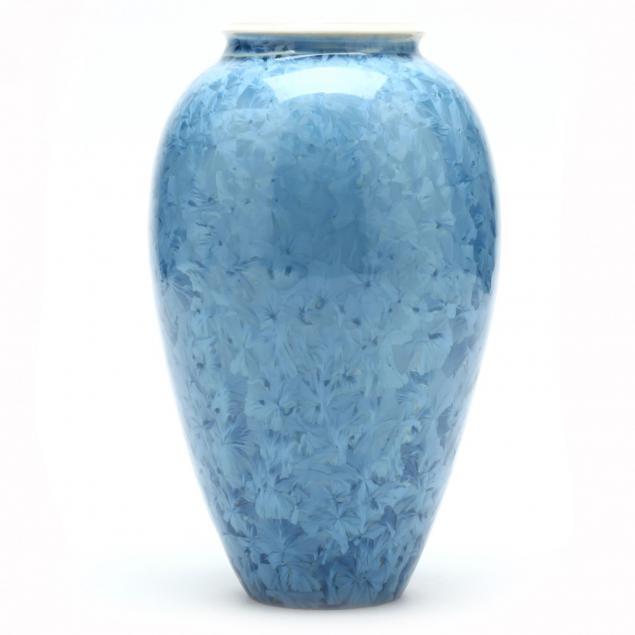 art-pottery-crystalline-vase-sid-oakley-nc-1932-2004