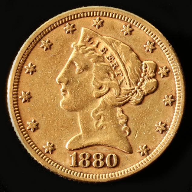 1880-5-gold-liberty-head-half-eagle