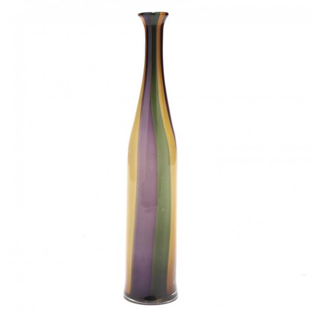 italian-art-glass-tall-bottle-vase