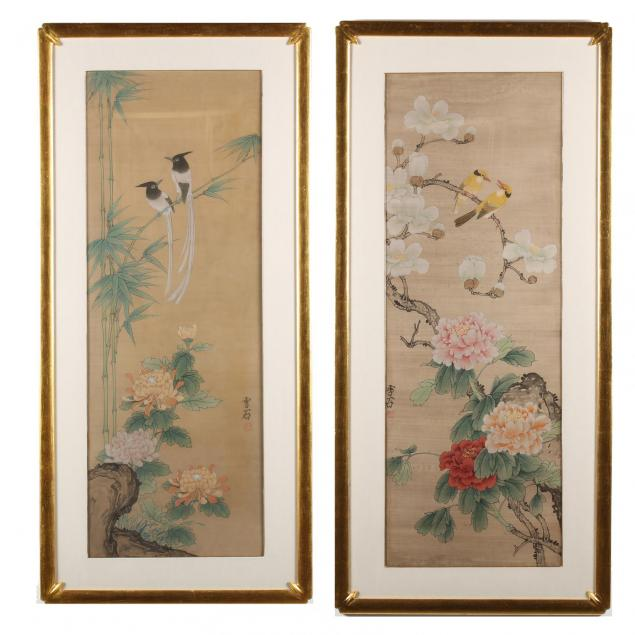 a-pair-of-large-japanese-bird-and-flower-paintings