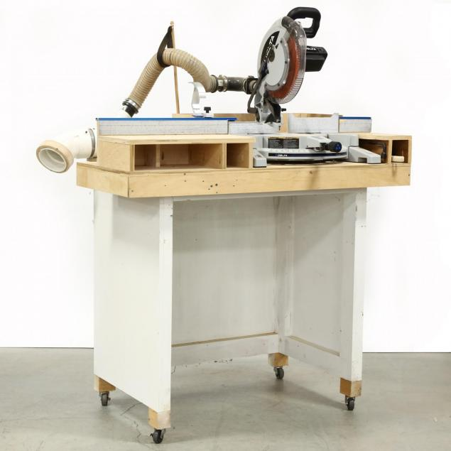delta-twin-laser-compound-mitre-saw-on-bench-with-casters