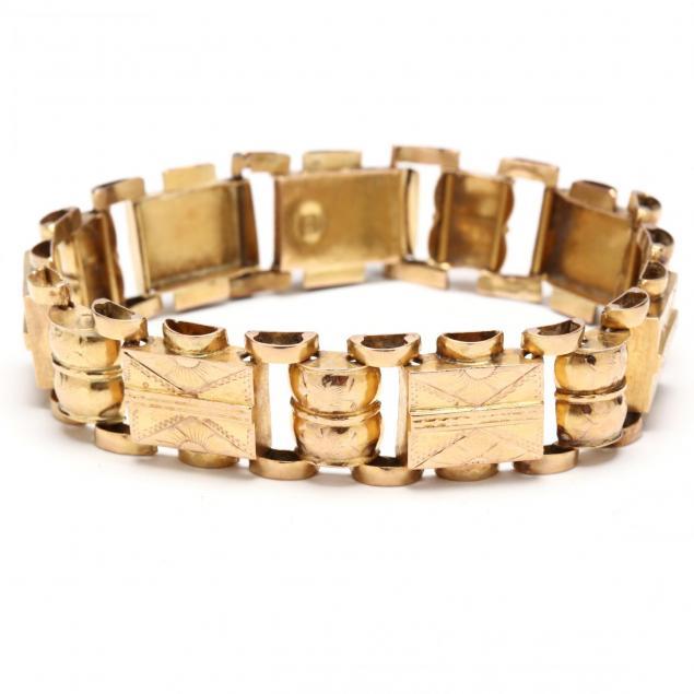 vintage-18kt-gold-bracelet