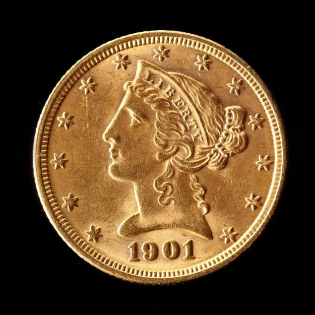 1901-5-gold-liberty-head-half-eagle