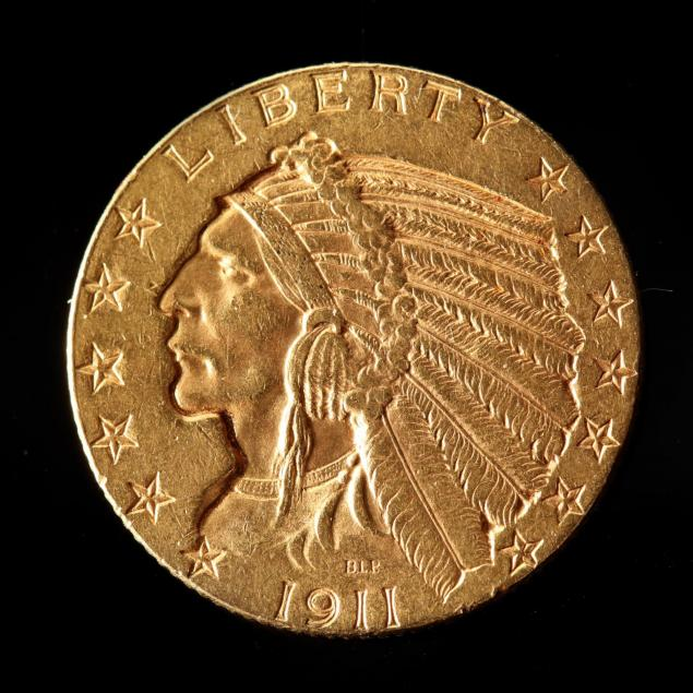 1911-5-gold-indian-head-half-eagle