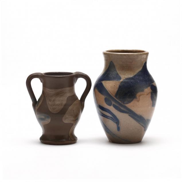 two-c-r-auman-vases-c-b-masten-glazed