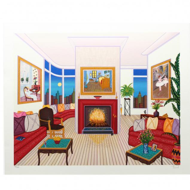 francois-ledan-french-b-1949-i-untitled-apartment-interior-i