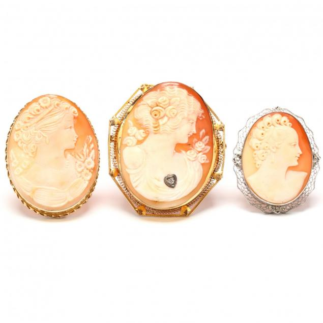 three-carved-cameo-brooches