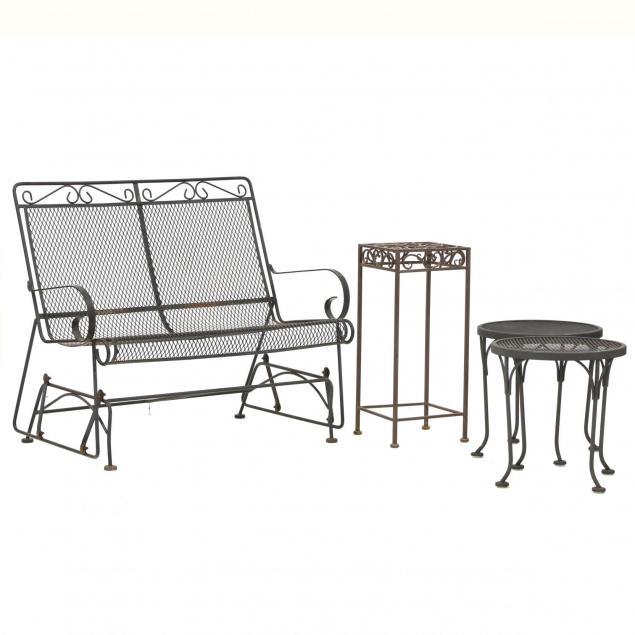 four-pieces-of-iron-patio-furniture