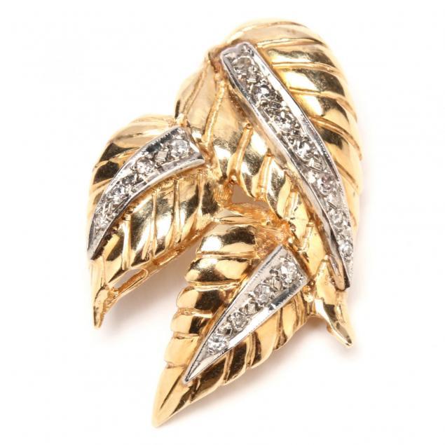 vintage-14kt-gold-and-diamond-pendant-brooch