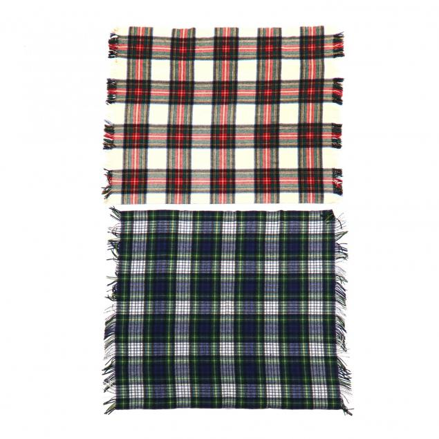 two-vintage-plaid-wool-blankets