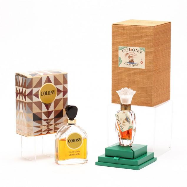 two-jean-patou-i-colony-i-scent-bottles