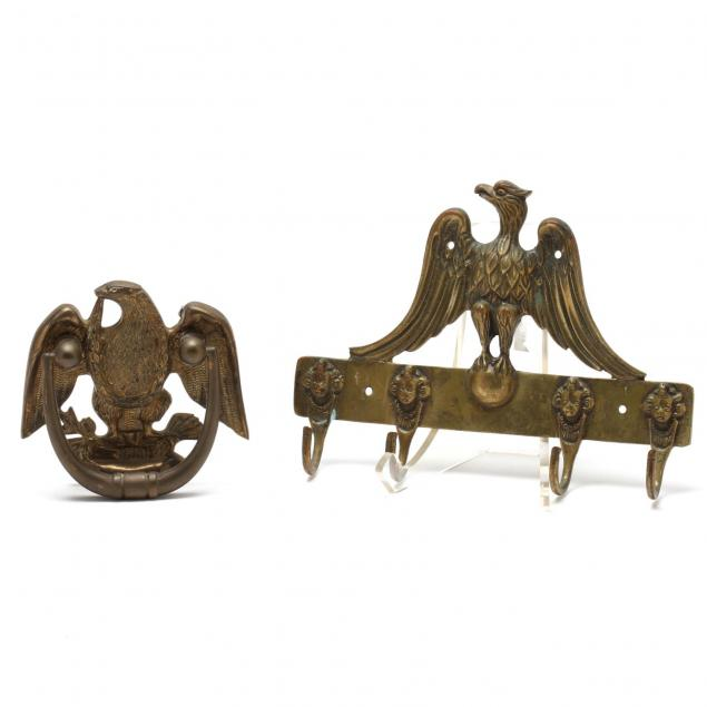 two-brass-architectural-items