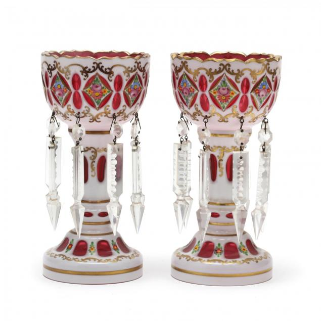 pair-of-painted-bohemian-glass-mantle-lusters