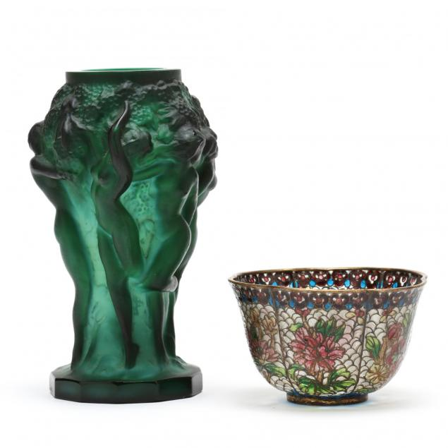 two-art-glass-items