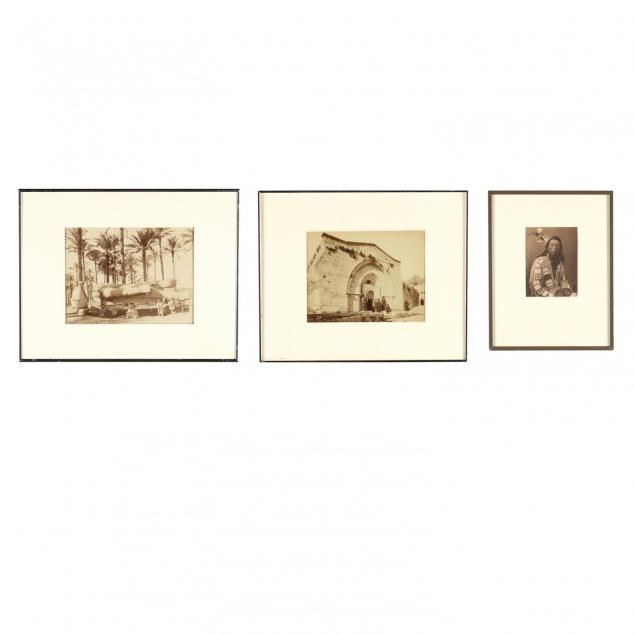 group-of-three-framed-vintage-photographs-one-by-felix-bonfils