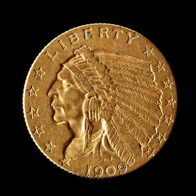 1909-2-50-gold-indian-head-quarter-eagle