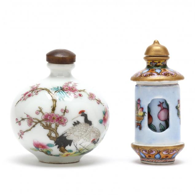 two-chinese-hand-painted-bottles