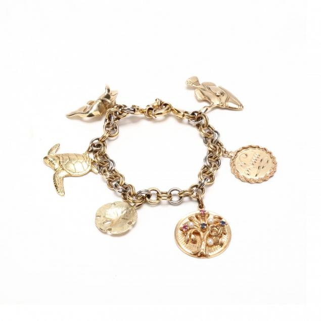 18kt-two-color-gold-charm-bracelet-with-gold-charms