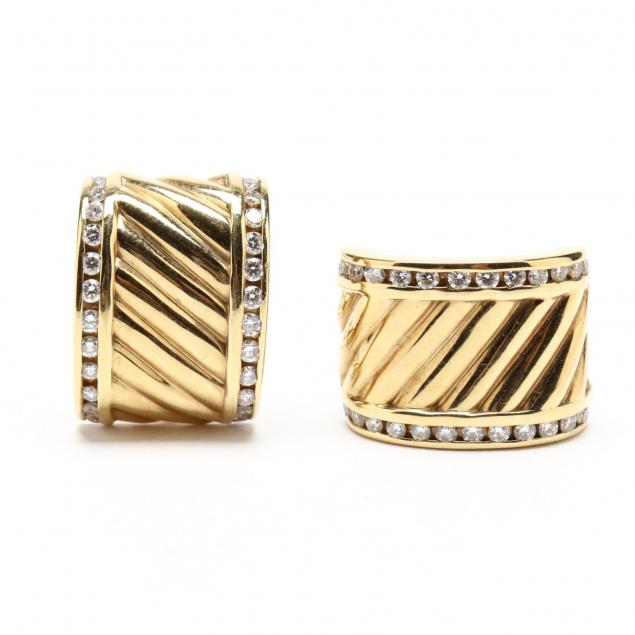 14kt-gold-and-diamond-ear-clips-david-yurman