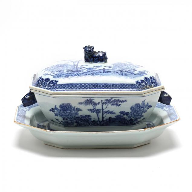 antique-chinese-export-lidded-tureen-and-serving-dish