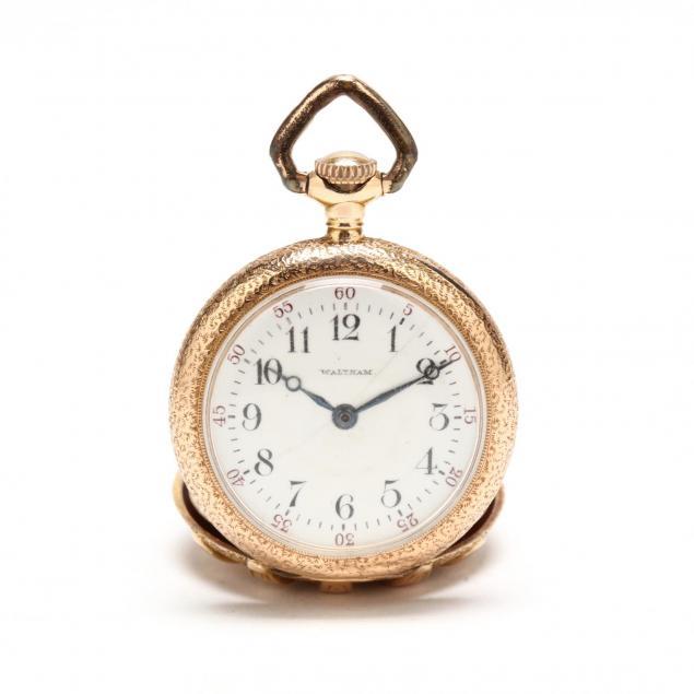 lady-s-14kt-gold-pocketwatch-waltham