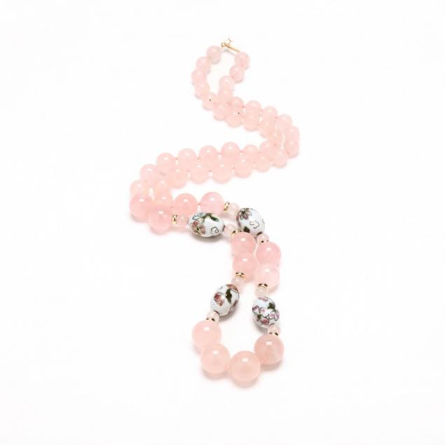 rose-quartz-and-closionne-bead-necklace