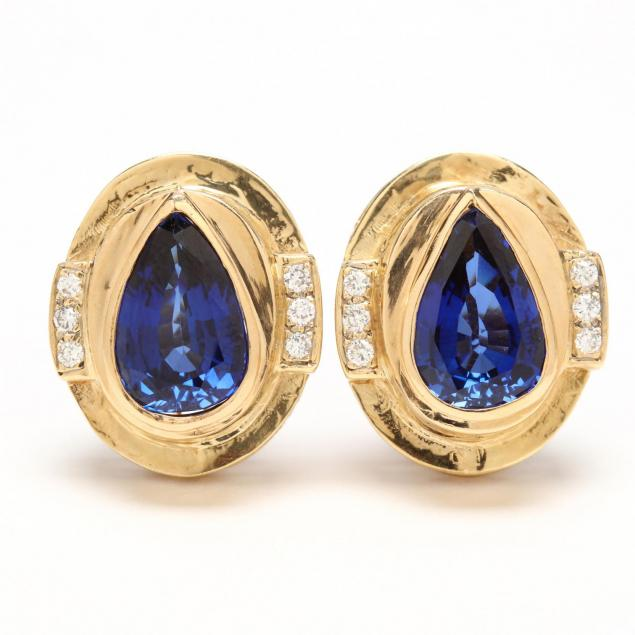 14kt-sapphire-and-diamond-ear-clips
