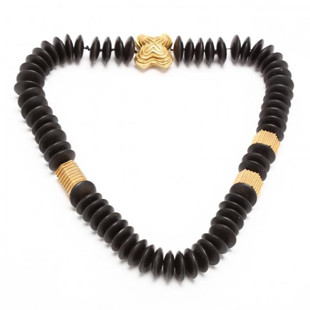 18kt-gold-and-ebony-necklace-christopher-walling