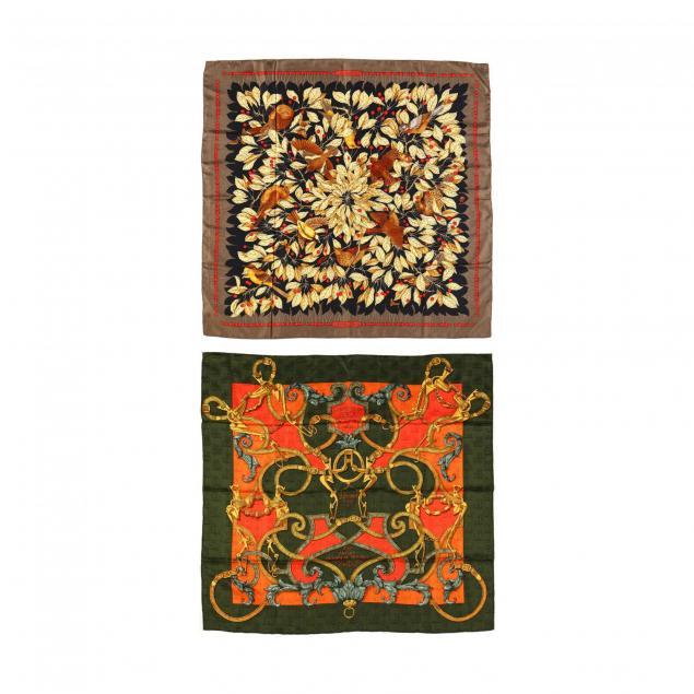 two-silk-scarves-hermes