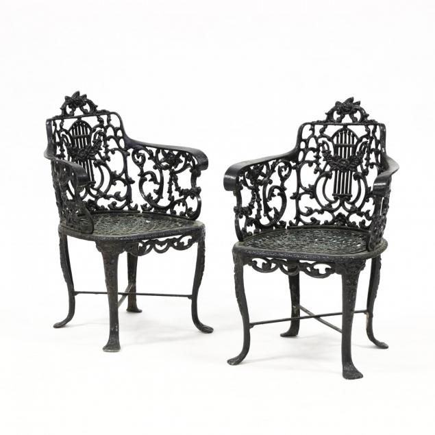 pair-of-vintage-cast-aluminum-garden-chairs