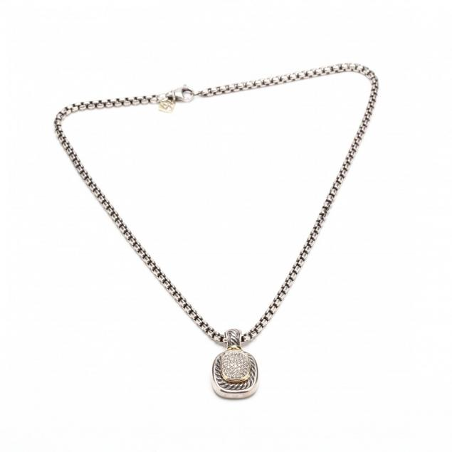 sterling-silver-and-18kt-gold-and-diamond-necklace-david-yurman