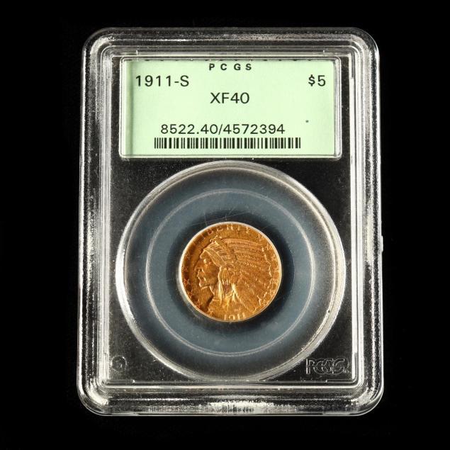 1911-s-5-indian-head-gold-half-eagle-pcgs-xf40