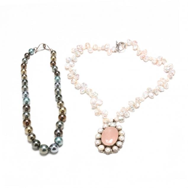 keshi-pearl-necklace-with-pendant-and-a-faux-tahitian-pearl-necklace